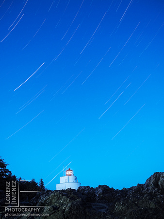 Startrails at the Amphritite Lighthouse